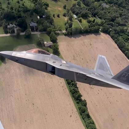 Flying Alongside the F-22 Raptor Jet
