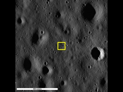 Tranquility Base observed by the Lunar Reconaissance Orbiter, 17 July 2009