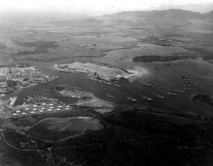 Pearl Harbor, 8 December 1941, awaiting return of Carriers