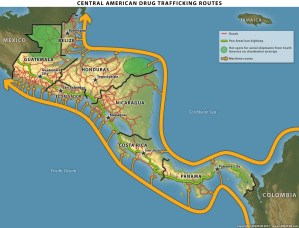 Central American Drug Trafficking Routes