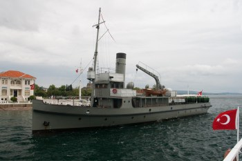 Replica Turkish minelayer of the type used in the Dardanelles campaign.