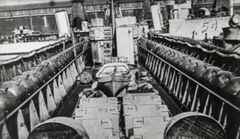 Mines on the deck of a British destroyer. Naval Institute photo archive