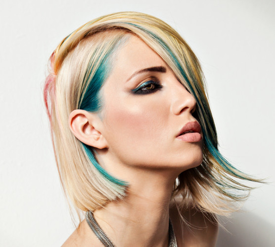 Fashion Model With Dyed Hair