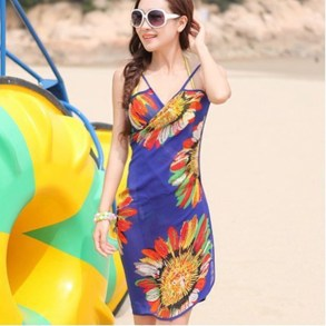 Beach-Cover-up-Swimwear-Dress-Bikini-Wrap-Dress