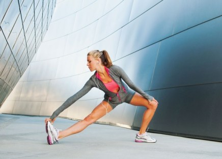 stretching for a running workout