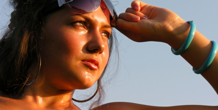 woman sweating from exercise