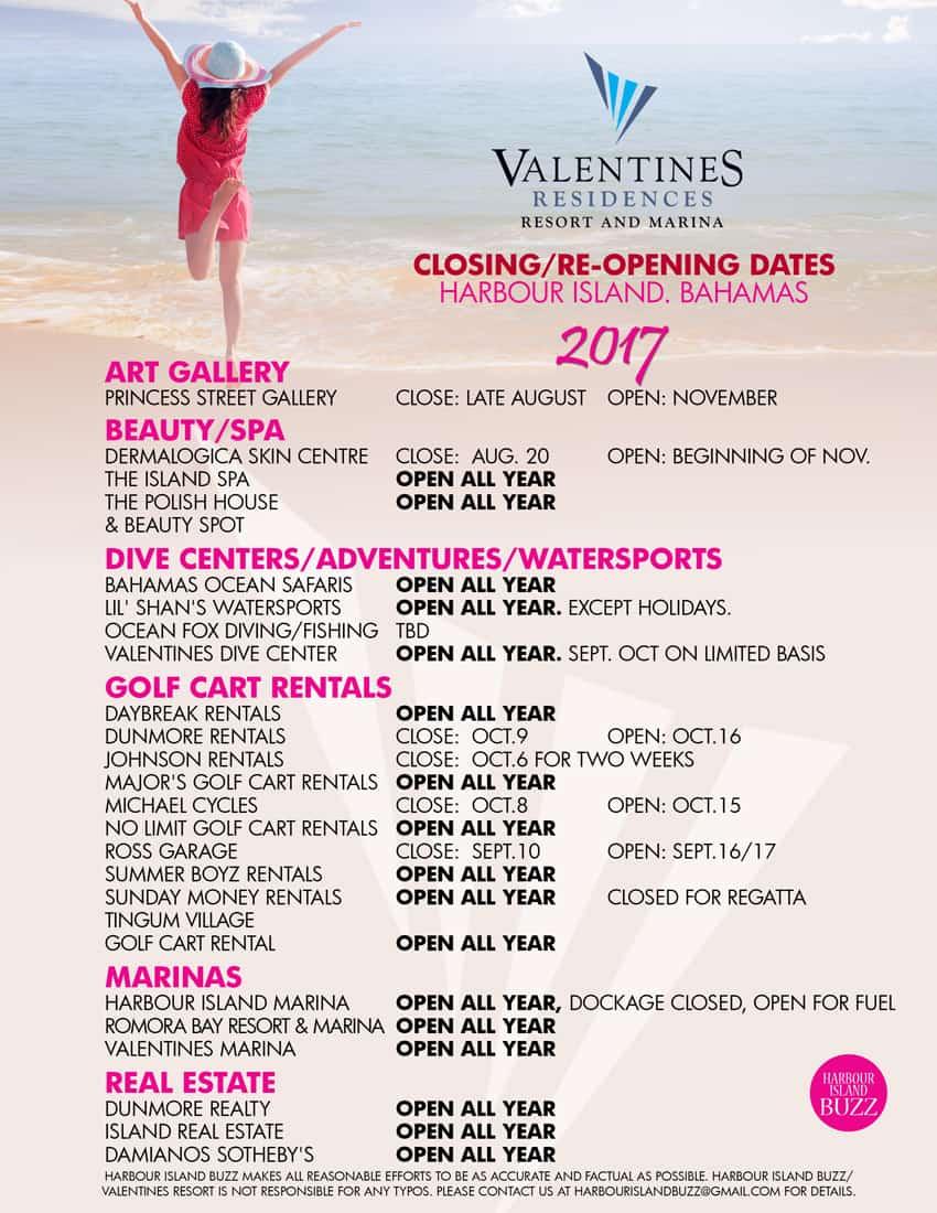 Harbour Island Bahamas Off Season Hours Valentines