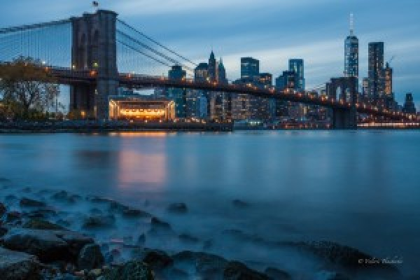"Fine art print ""New York at dusk light"""