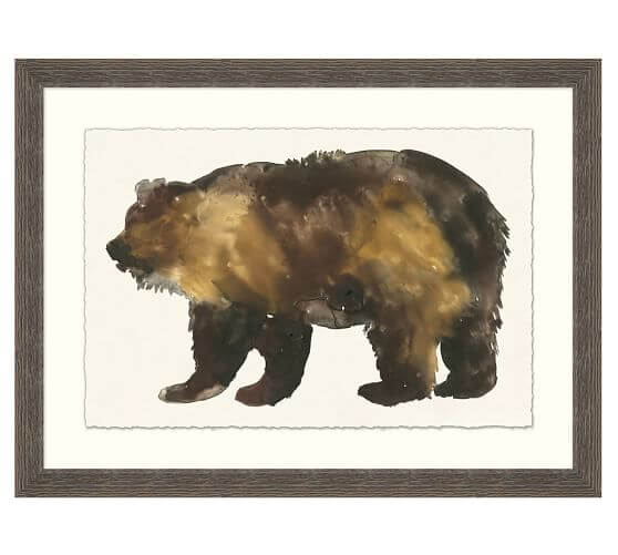 Bear Impression Framed Art