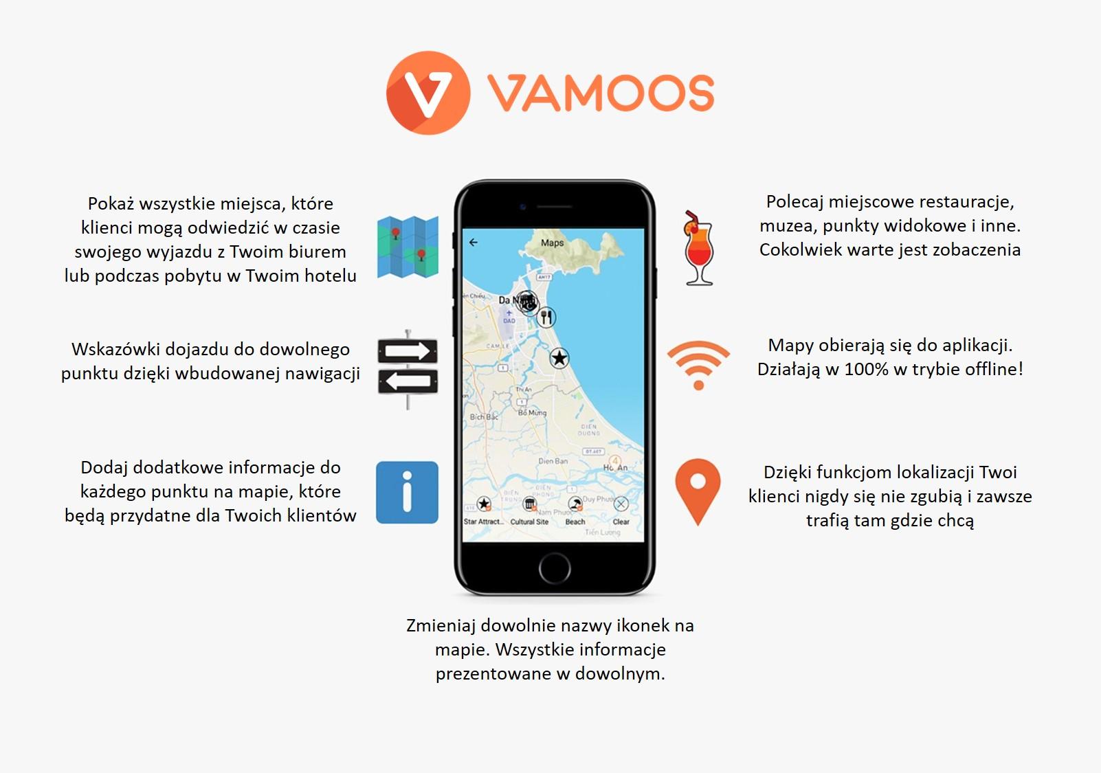 Mapy w aplikacji Vamoos