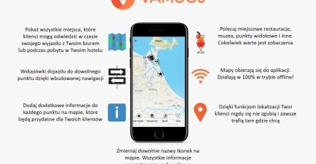 Mapy w aplikacji mobilnej biura podróży