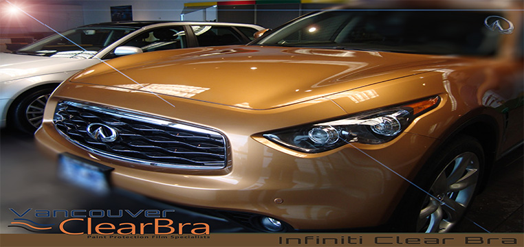 Infiniti Vancouver Clear Bra paint protection film-installation Vancouver ClearBra 3M Xpel