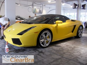 Lamborghini Vancouver-Clear Bra paint protection film Vancouver ClearBra 3M Xpel installation Vancouver