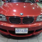 Vancouver-ClearBra-2009-BMW-135i-red-Xpel-Ultimate-Paint-Protection-Film-Brian-Jessel-BMW-finished-bumper