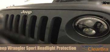 Jeep Wrangler Sport Headlight Clear Bra Vancouver ClearBra