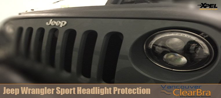 Jeep Wrangler Sport Headlight Clear Bra Vancouver ClearBra