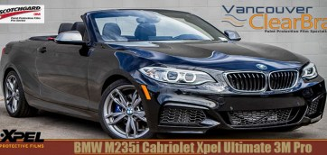 BMW M235i Xpel Ultimate Clear Bra 3M Pro Vancouver ClearBra