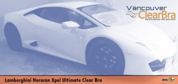 Lamborghini Huracan Xpel Ultimate Clear Bra