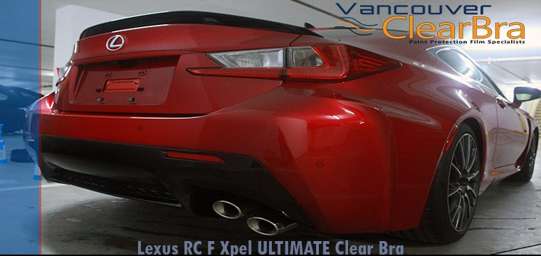 Lexus RC F Xpel Clear Bra Vancouver