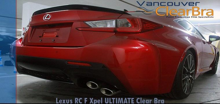 Lexus RC F Xpel Clear Bra Vancouver