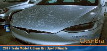 Tesla Model X Full Coverage Xpel Clear Bra