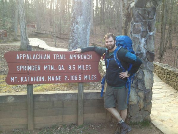Tom Gathman Starting the Appalachian Trail