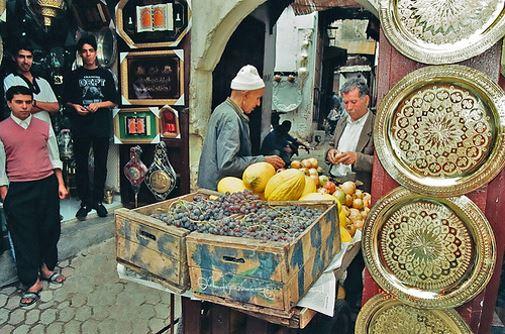 Puesto en el zoco de la Medina de Casablanca