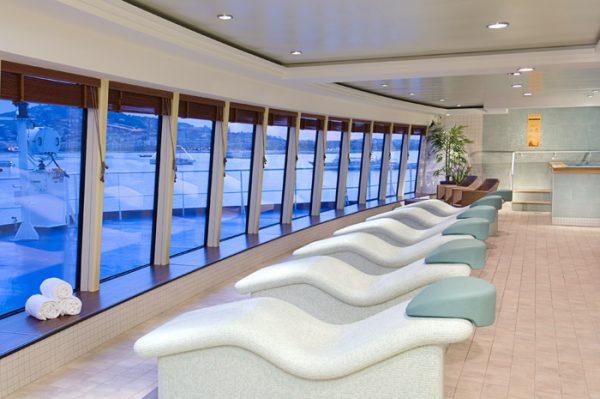 Sala relajante del crucero Jewel de NCL