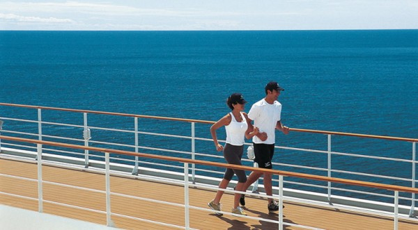 Cruceros MSC Armonia: Pista de footing del MSC Armonia.