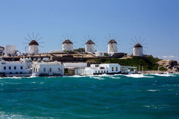 Molinos de viento, Grecia de Mikonos