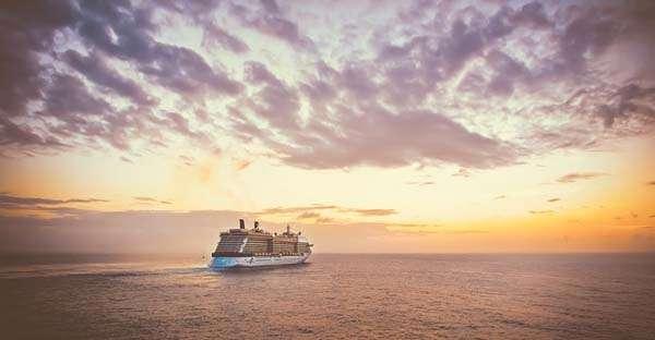 Crucero, puesta de sol