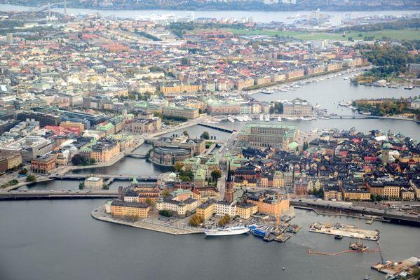 Vista aerea de Estocolmo