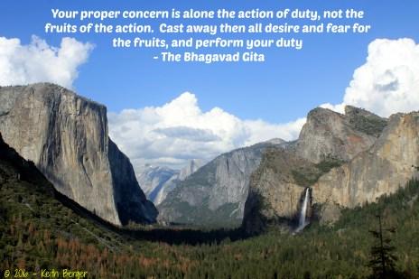 Bhagavad Gita - Tunnel View- Yosemite