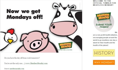 Meatless Monday tries to be clever
