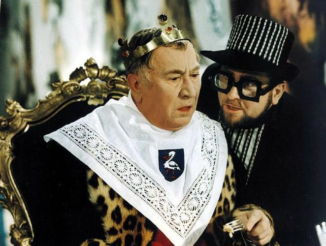 Jaroslav Marvan coby král v pohádce Šíleně smutná princezna