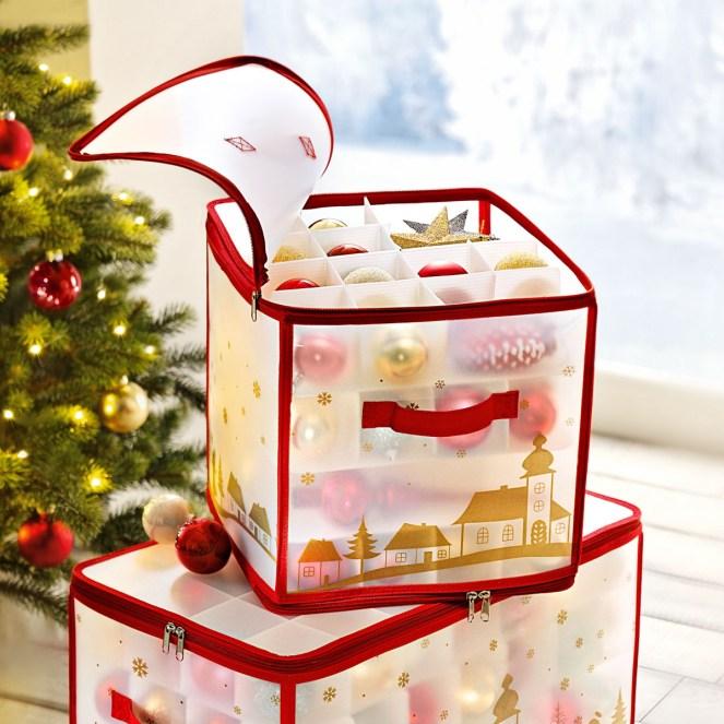 krabice na vánoční ozdoby