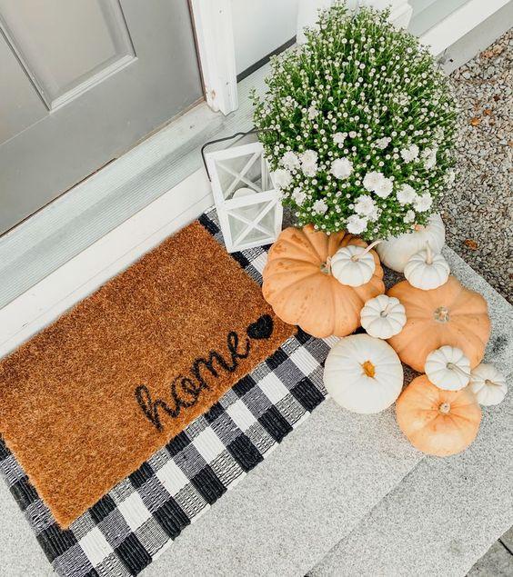 vchodové dveře dekorace podzimní