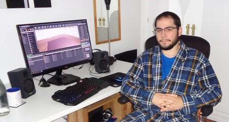 Borja Fernández, en su estudio de trabajo.