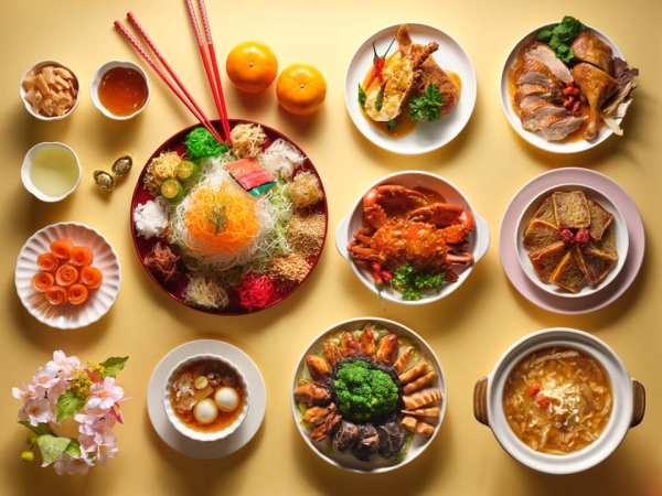 yu sheng and chinese cuisine for chinese new year