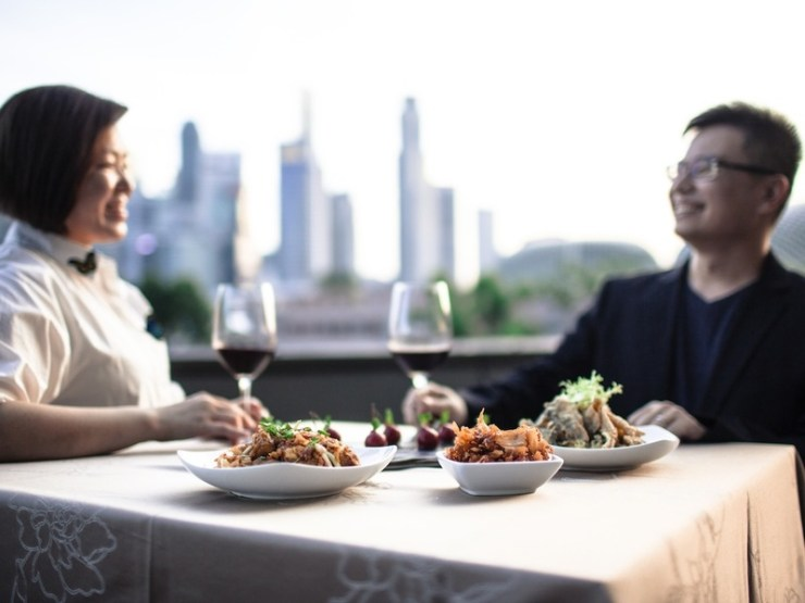 Restaurant with beautiful view and good food to impress your clients