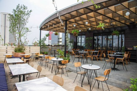 cool rooftop bar for networking event in jakarta
