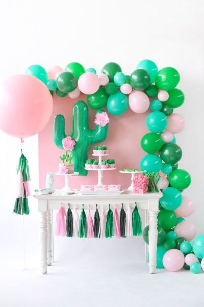 cactus theme decoration for baby shower party