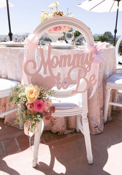 Mommy to be cute chair decoration