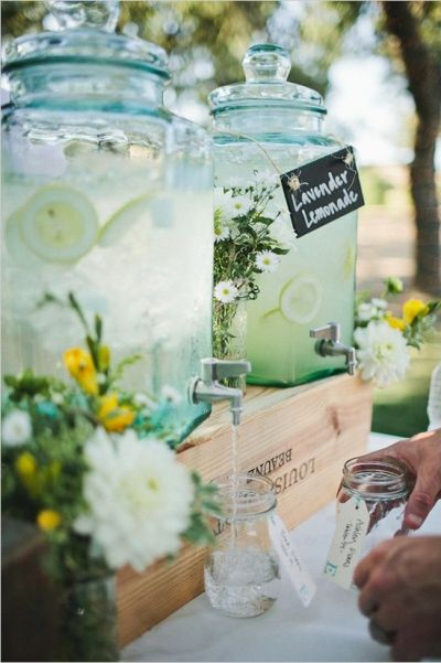 infused water drinks idea for baby shower