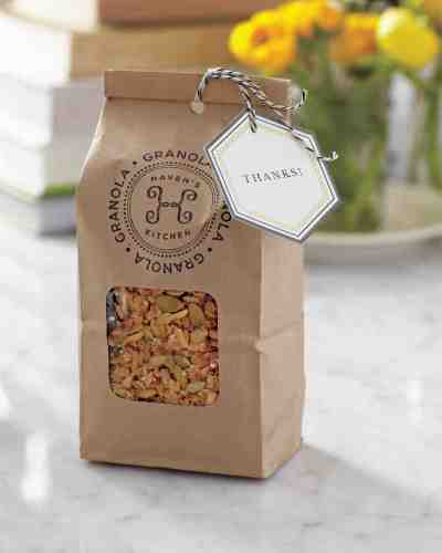 quirky gift for bridal shower, healthy food granola