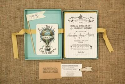 Turquoise bridal shower invitation