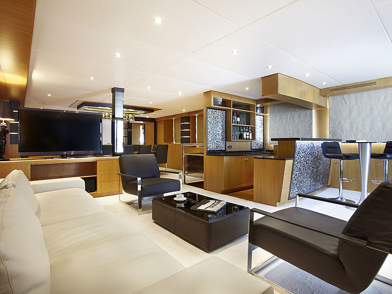 luxury yacht interior for family trip