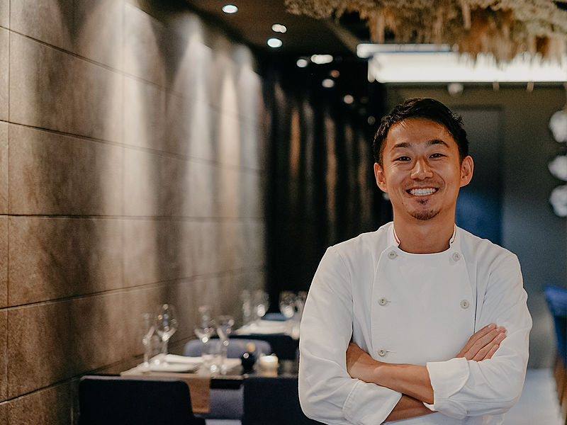Chef Noboru Shimohigashi the brilliant and talented chef