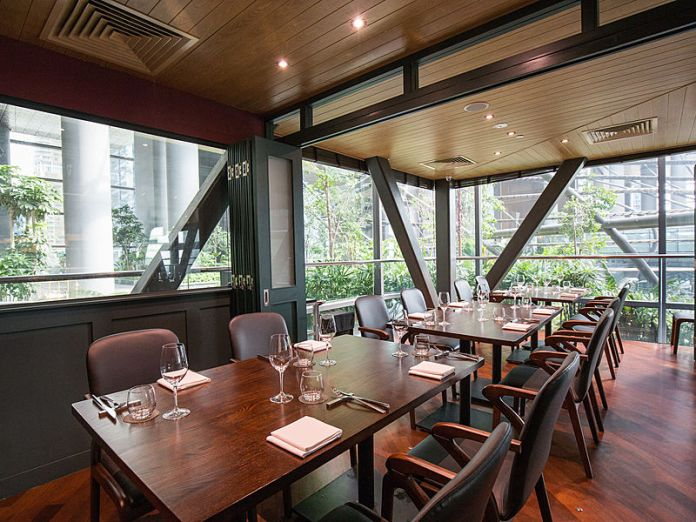 private room restaurant with natural light