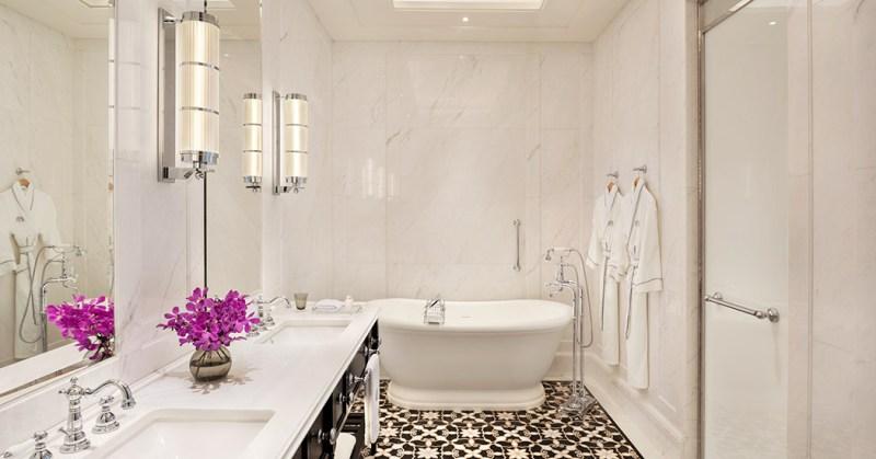 clean and nice bathroom raffles hotel singapore